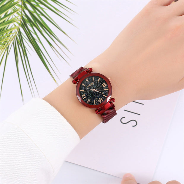 2019 New Hight Quality Men Fashion Casual Quartz Stainless Steel Band Magnet Buckle Analog Wrist Watches Erkek Kol Saati