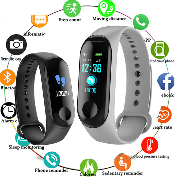 2019 Smart Watch Waterproof Fitness Bracelet Blood Pressure Heart Rate Monitor Band Bluetooth Push For Xiao Mi IOS Android Phone