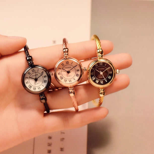 2019 Women Small Gold Bangle Bracelet Luxury Watches Stainless Steel Ladies Quartz Wristwatch Brand Casual Women Dress Colck