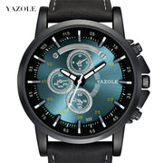 2019 Yazole Men Sport Watch Luxury Top Brand Business Male Quartz Wrist Watch Leisure Leather Quartz Clock Relogio Masculino