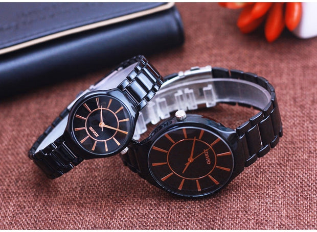 2019 Women Office Ladies Dress Quartz Wristwatches Couples Girlfriend Gold Black Electronic Clock Female Fashion Casual Watches