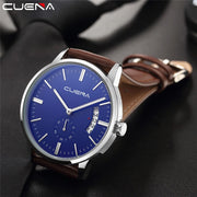 2019Unique Design Fashion Luxury Men's Leather Military Date Analog Quartz Wrist Watch Business Watches Male Clock Hour Relogio
