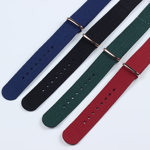 20MM Fashion Nylon Watchbands 2018 Watch Band Nato Strap Red Black Green Blue Casual Men's Wrist Watch Bracelet