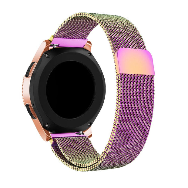 20mm Band Milanese Loop Stainless Steel Watch Band For Xiaomi Huami Amazfit Youth Bit For Samsung Galaxy Watch 42mm Strap Wrist