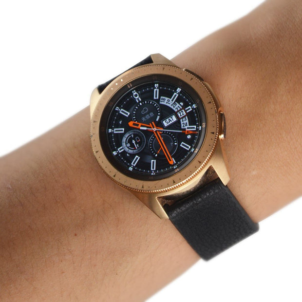 20mm Black Brown Real Leather Strap For Sumsung Galaxy Watch 42mm / Gear S2 Leather Watchband