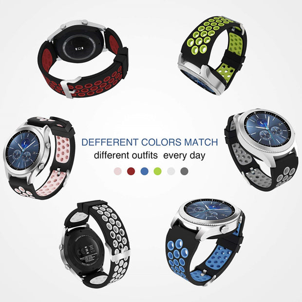 22mm Sport Silicone Strap For Samsung Gear S3 Frontier Classic Band Xiaomi Huami Amazfit Replacement Rubber Strap Wristband Belt
