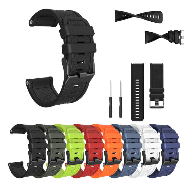 26MM Watch Strap 2018 New Sport Soft Silicone Replacement Wristband Wrist Strap For Garmin Forerunner 620