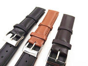 3PCS/lot High Quality 20MM Genuine Leather Watch Band Watch Strap Watch Parts-black ,brown,coffee Color-0201202