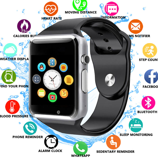 A1 Smart Watch Bluetooth WristWatch Sport Pedometer With SIM Camera Smartwatch For Android Smartphone Russia T15 PK DZ09 Q18 X6