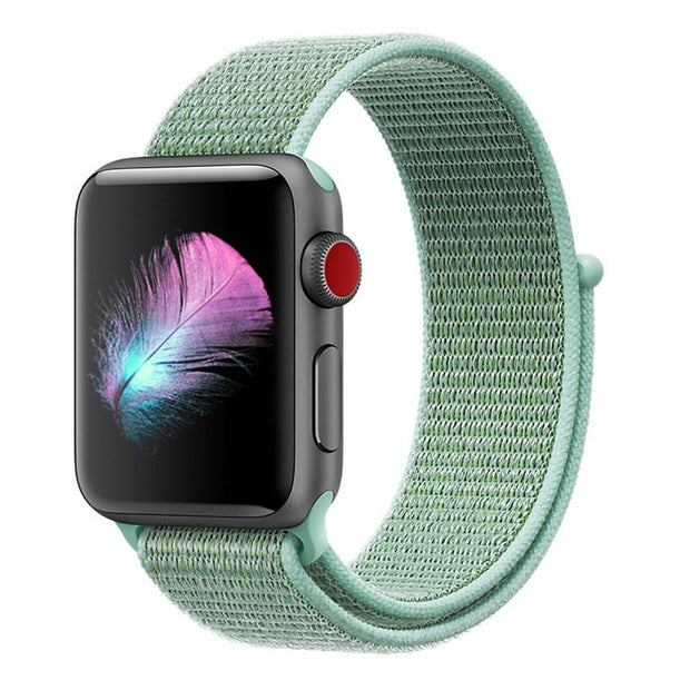 ASHEI For 38mm 42mm Apple Watch Band Sport Loop Lightweight Breathable Nylon Replacement Wrist Strap For IWatch 3/2/1 Watchbelt