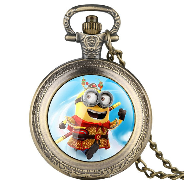 Alice In Wonderland Fine Chain Pocket Watch For Kids Cartoon Character Pattern Quartz Pocket Watch For Students Gift For Pocket