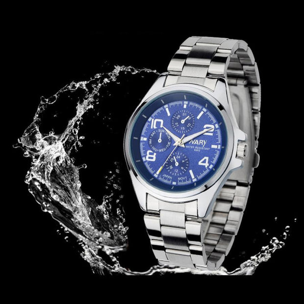 Attractive Fashion Luxury Men Stainless Steel Classical Quartz Analog Shockproof Wrist Watch Relogio Masculino Watch Men