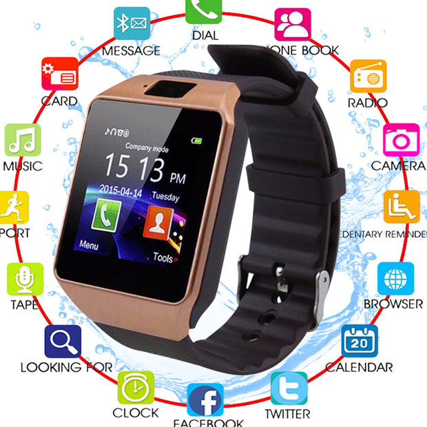 29f9c11ea Bluetooth Smart Watch Smartwatch DZ09 Android Phone Call Relogio 2G GSM SIM  TF Card Camera For