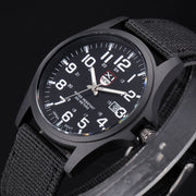 Brand XINEW Original 2018 Mens Army Watches Unique Design Casual Nylon Band Quartz Calendar Watch Relogio Masculino Marca Grande