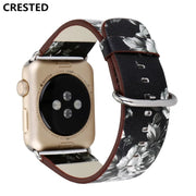 CRESTED Classic Leather Strap For Apple Watch Band 42mm/44mm 40mm/38 Correa Iwatch Series 4 3 2 1 Wrist Bracelet Watchband Belt