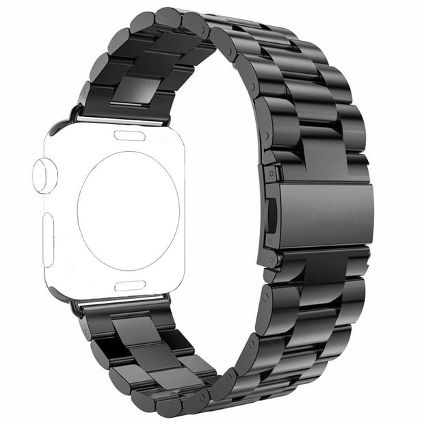 CRESTED Link Bracelet For Apple Watch Band 42mm 38mm Iwatch Straps Series 3/2/1 Stainless Steel Wrist Bands Belt Watchband