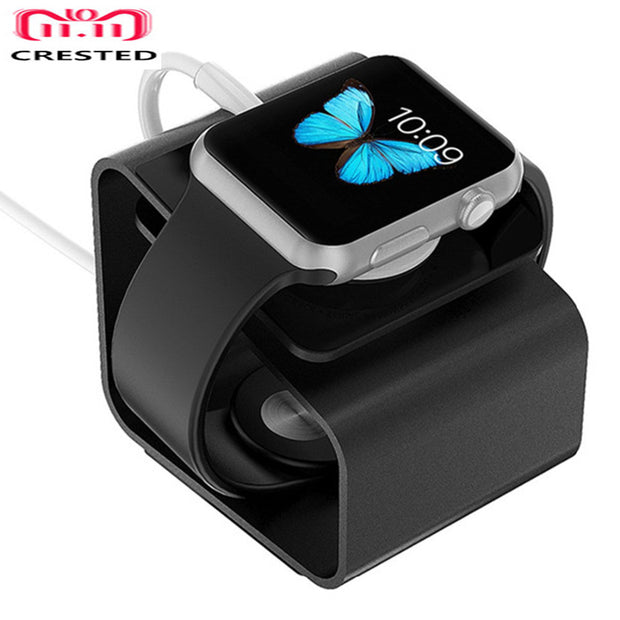 CRESTED Portable Charging Stand For Apple Watch 42mm/38mm Charger Holder IWatch Dock Station Stand Use Aluminum Alloy Mount