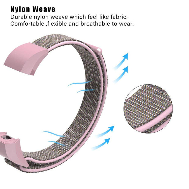 CRESTED Sport Loop Watch Strap For Fitbit Alta HR/ Alta Band Replacement Bracelet Fitness Tracker Woven Nylon Wrist Bands Belt