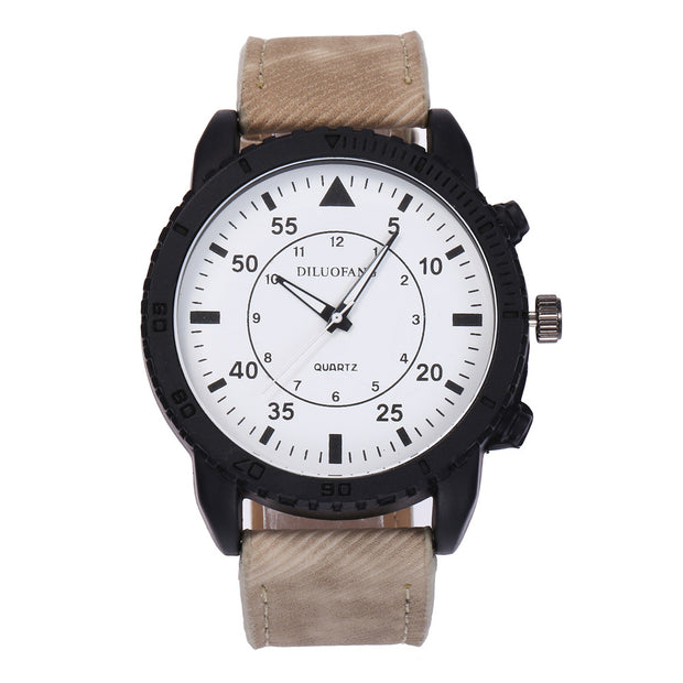 Casual Men Arabic Numbers Business Analog Quartz Faux Leather Wrist Watches Gift