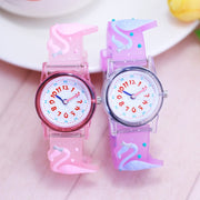 Christmas Gift Cute Swan Girl's Boy's Children Watch SportS Jelly Leather Watch HOT Cartoon Watch New Fashion Kids Watch