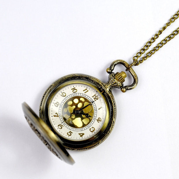 Classic Nostalgic Floral Hollow Fashion Retro Small Leaf Pocket Watch Court Men And Women Antique Gift Watch