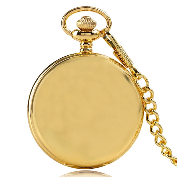 Classicial Arabic Numbers Smooth Fob Watches Vintage Women Quartz Pocket Watch With Necklace Chain Gifts Reloj De Bolsillo