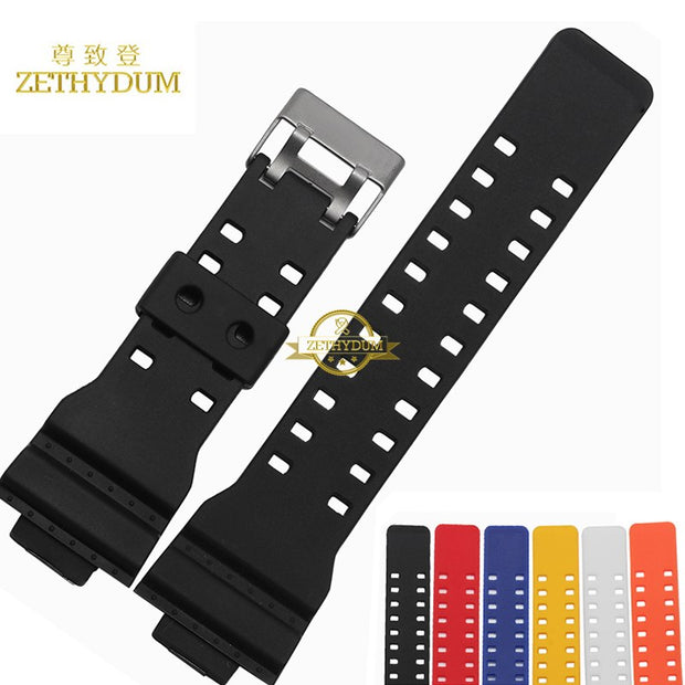 Convex Interface Silicone Rubber Bracelet Watchband 16mm Wristband Accessories Wrist Watch Band Waterproof Wristwatches Strap