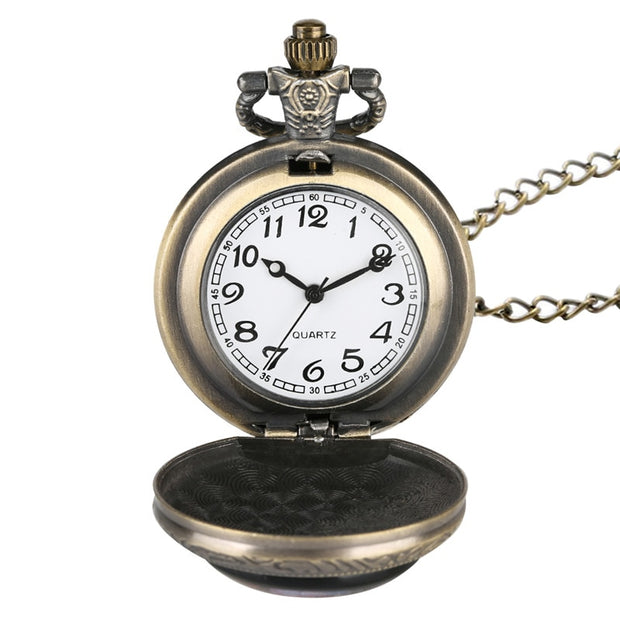 Coupons Retro Quartz Pocket Watch For Men Bird Patter Pocket Watches For Teenager Creative Necklace Gift For Pocket Watch
