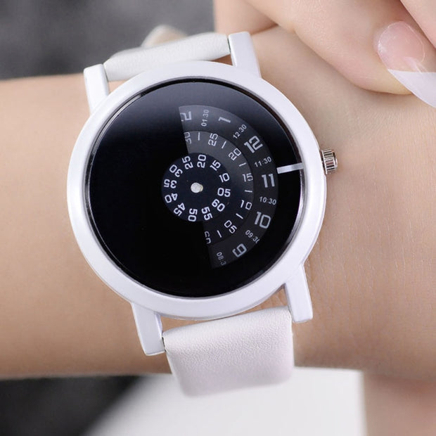 Creative Design Wristwatch Camera Concept Brief Simple Special Digital Discs Hands Fashion Quartz Watches For Men Women