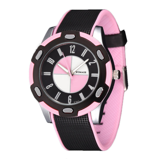 Creative Fashion Women Quartz Watches Rubber Strap Sports Casual Ladies Wrist Watch Students Boys Girls Clock Reloj Mujer Nino