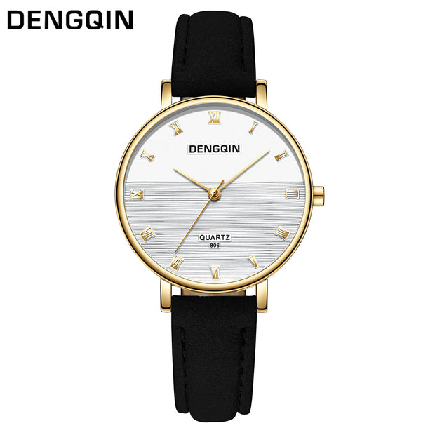DENGQIN Fashion Women Watch Luxury Brand Women Casual Wrist Watch Ladies Quartz Watch Relogio Feminino Bayan Kol Saati