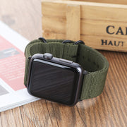 DIDI Strap For Nylon Apple Watch Band 38mm 42mm Band Bracelet Nylon Watch Strap Green For Iwatch Nylon Strap Series 3 4 2 40 44m