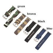 DIDI Straps For Apple Watch Nylon Bands 42mm Canvas Steel Buckle For IWatch Strap For Apple Watch 38mm 42 Series 3 Band For Men