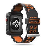 DIDI For Iwatch Band 42mm 44mm Bands With Case Metal Buckle Silicone TPU Strap For Apple Watch 3 Straps 42mm Series 3 2 Band Men