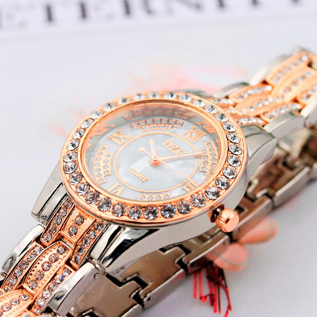 DISU Women Ladies Watch Luxury Metal Bracelet Watches Women's Watch Analog Quartz Vogue Relogio Feminino