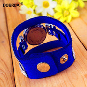 DOBROA Relogio Feminino Reloj Mujer 2018 Korean Velvet Drill Watch Women Fashion Diamond Top Luxury Diamond Long Bracelet Watch