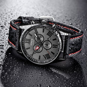 Date Business Watches Men Brand Luxury Gift Men's Leather Band Sports Analog Military Quartz Wrist Watch Relogio Masculino Saat