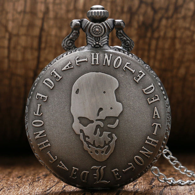 Dead Note Pocket Watch 2016 Fashion New Hot Sale Skull Wholesale Men Women Pendant Necklace