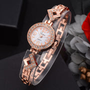 Dial Plate+Digit Dial Women Girl Round Quartz Watches Bracelet Casual Watches Wristwatch Gifts