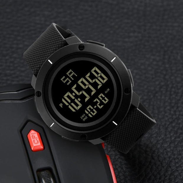 Digital LED Waterproof Wrist Watch Men Stylish Electronic Round Watches