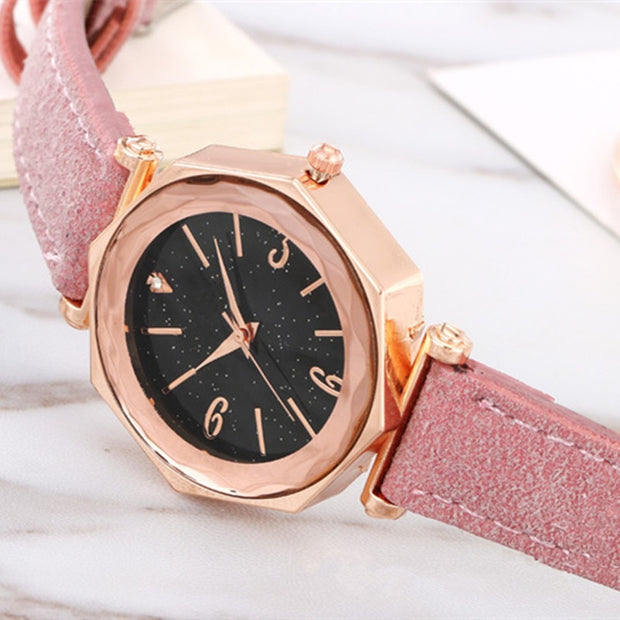 Doreen Box Elegant Quartz Wristwatch For Women Fashion Big Rhinestone Luxury Dress Wedding Party Ladies Irregular Shape Watches