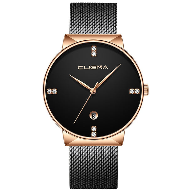 Duobla Watch Men Luxury Simple Ultra Thin Clock Male Steel Strap Casual Quartz Watches Wrist Watch Relogio Masculino GIFT P#
