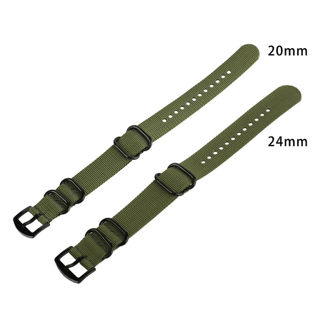 Durable Watchband Canvas Nylon Nato Watch Strap 20mm/22mm/24mm Watch Band Waterproof Fabric For Men Women Replacement Bracelet