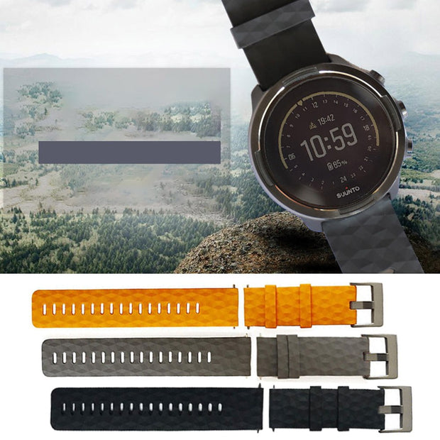 Easy Install Soft Quick Release Watch Band Ergonomic Replacement Silicone Pin Buckle Strap Durable Adjustable For Spartan Baro