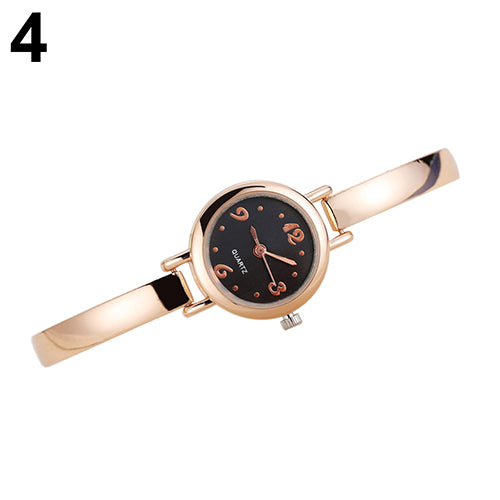 Elegant Lady Women Slim Alloy Analog Wristwatch Bangle Bracelet Wrist Watch Gift