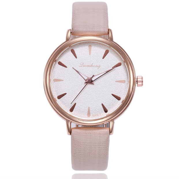 Exquisite Simple Style Women Watches Fashion Leather Band Analog Quartz Round Wrist Watch Women Watches Saat Relogio Feminino