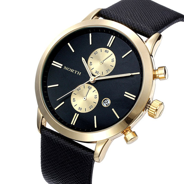 Fabulous 1PC Fashion Men Casual Date Leather Military Japan Watch Gift Jun30