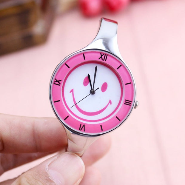 Fashion Brand Dress Ladies Bracelet Watches For Women Diamond Stainless Smiling Face Steel Quartz Watches