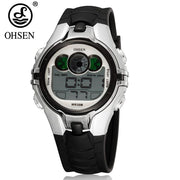 Fashion Design OHSEN Digital Kids Watches Child Alarm Wrist Watch Water Shock Resistant LED Sport Boys Watches Relojoes Children