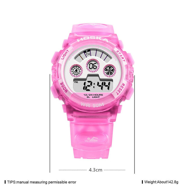 Fashion Kids Student Watch Calendar Zone Times Scratch-resistant Digital Watches Waterproof Cute Wristwatch Gift @17 LXH